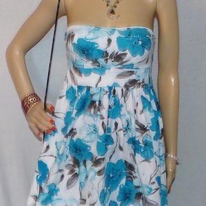 Rue 21 Dress Purple Blue Floral Dress Size Small